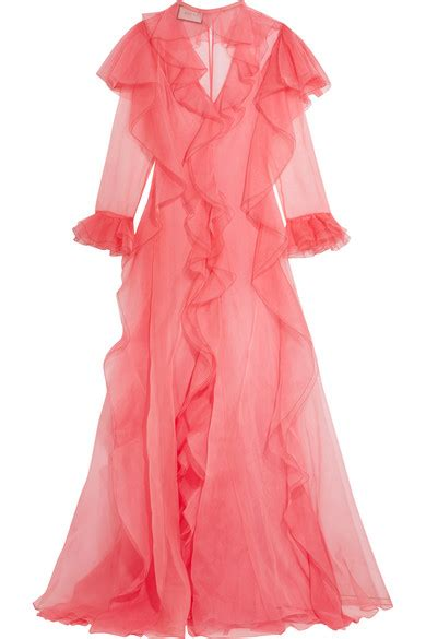 Blouses 100 At The Net A Porter Sale by Gucci Ruffled Silk Organza Gown Net A Porter