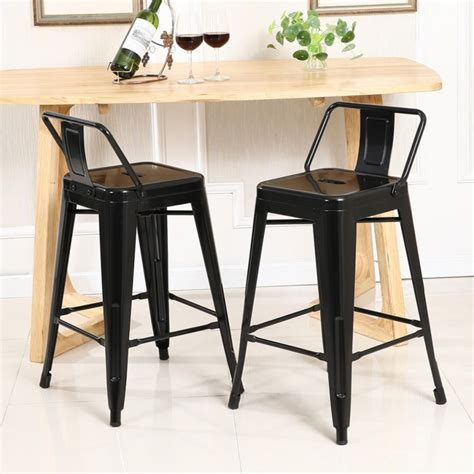 bar height desk chair 4 pc bar stool height with low back onebigoutlet within