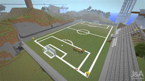 How To Make A Football Field Out Of Paper - minecraft football field timelapse