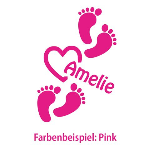 Autoaufkleber Baby Shop by Auto Aufkleber Baby Fu 223 Abdruck Name F 252 223 E Fu 223 Abdruck