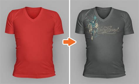 Tshirt Kaos Element photoshop v neck shirt mockup templates pack