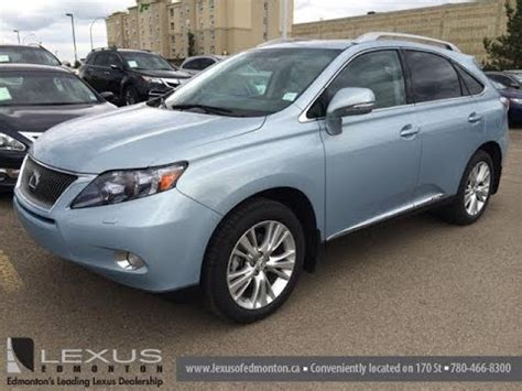 lexus light blue pre owned blue 2010 lexus rx 450h awd 4dr hybrid