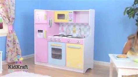 kidkraft large pastel wooden kitchen 53181