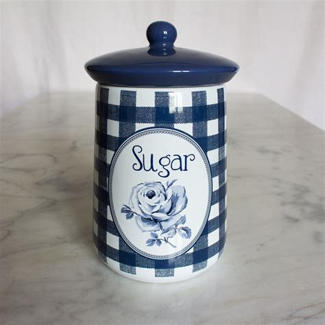 Jar Vintage Sugar vintage indigo ceramic sugar jar vintage indigo shop by collection