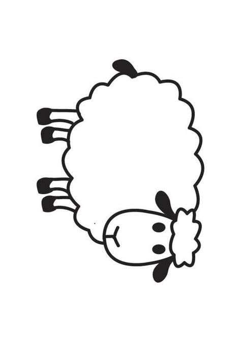 Sheep Outline Coloring Page Coloring Home Sheep Coloring Pages Preschool