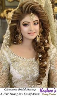 kashees beautiful bridal hairstyle makeup parlour