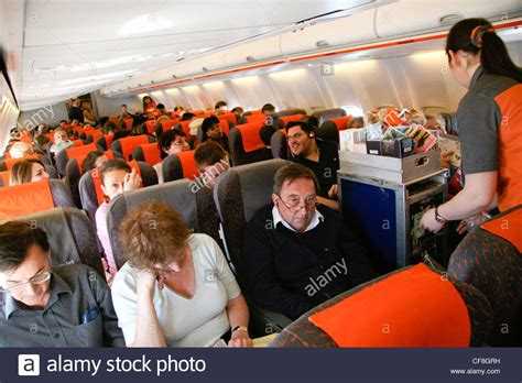 easyjet cabin inside cabin on easyjet flight stock photo 43829397 alamy