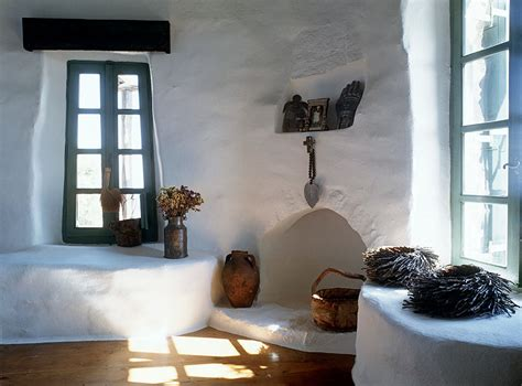 Mykonos Interior Design by Traditional House Built On The Harsh Rocky Mountain