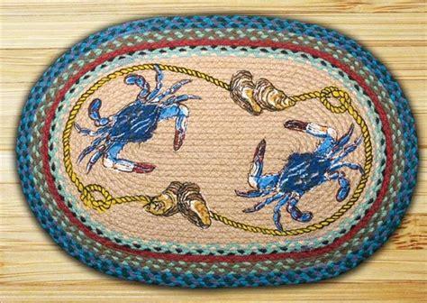 crab rug blue crab oval rug