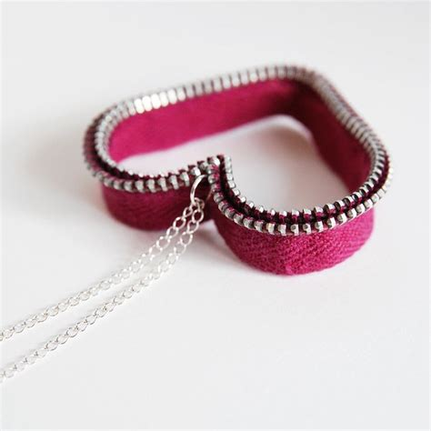 I Found A Zipper Necklace For by Zipper Necklace Zipper Crafts