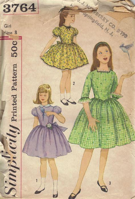vintage pattern girl simplicity 3764 sewing pattern vintage 60s 50s rockabilly