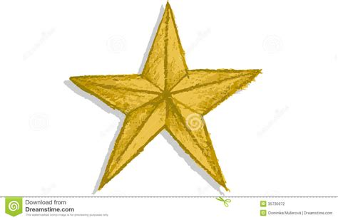 hand drawn gold star stock photography image 35735972