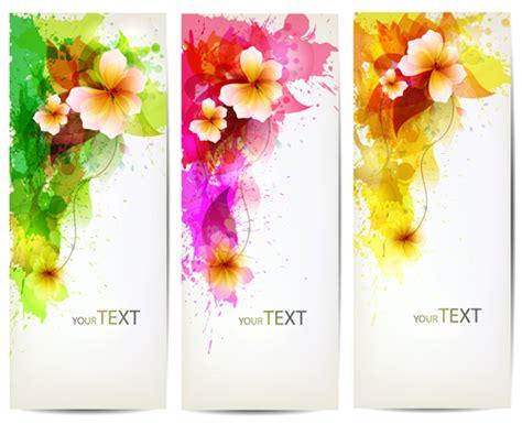 flower design vertical watercolor flower vertical banner design 04 water