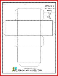 Cuboid Net Template Printable by Cuboid 2 A Printable Net For A Cuboid Available With Or