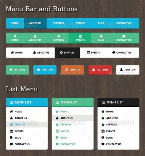 Neelam Web Menu Bar And Buttons Font Logo Fonts And Logos Navigation Bar Templates