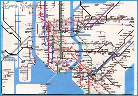 metro map of new york new york metro map travelsfinders