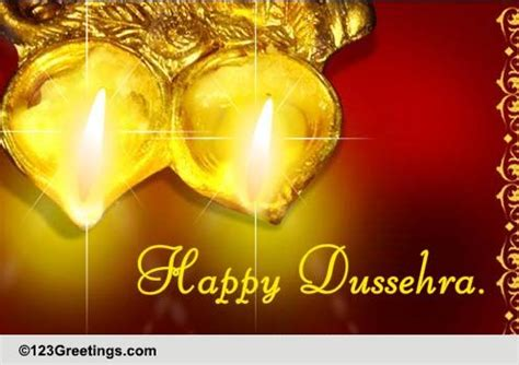 Wish Friend On Dussehra Free Friends Ecards