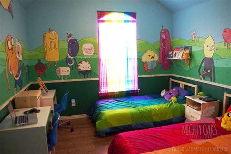 impressive adventure time themed kid s bedroom geekologie