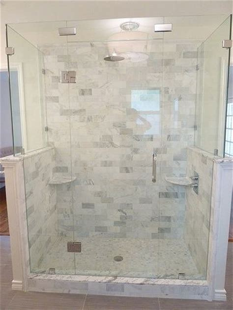 marble and subway tile bathroom renovation master bathroom carrera marble frameless