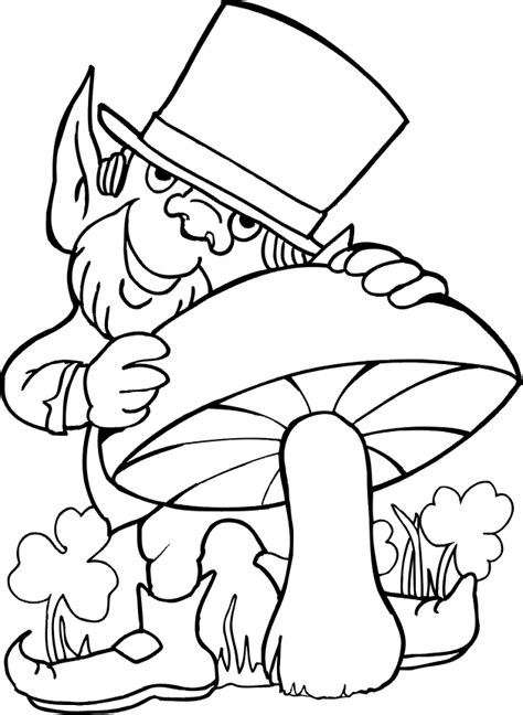 Dessin De St Patrick Coloring Pages Leprechaun Coloring Page