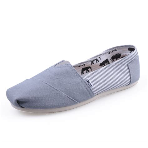 toms shoes sale grey canvas stripe s classics toms shoes cheap