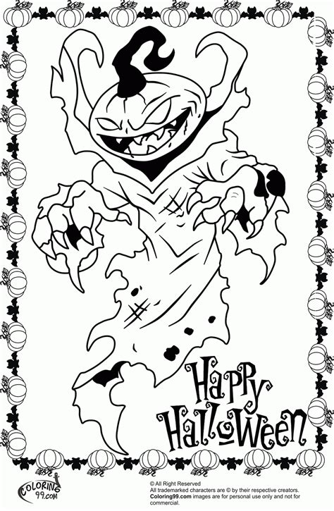 coloring pages of halloween monsters monster coloring pages for halloween coloring home