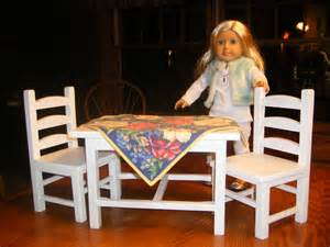 table and chair set for 18 inch doll
