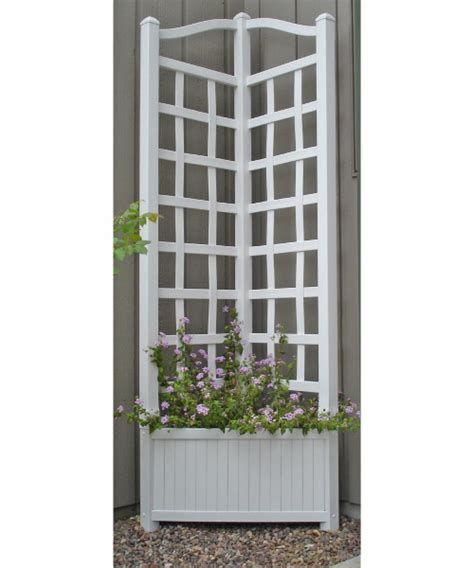 Corner Trellis Planter by 5 5 Foot Outdoor Triangle Vinyl Oxford Corner Planter With