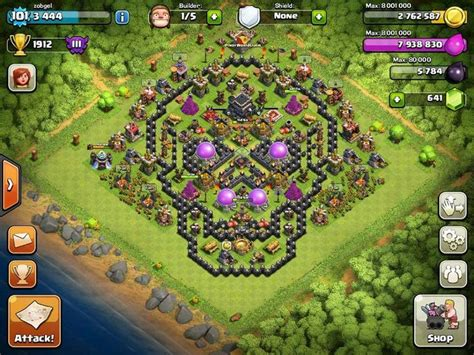 coc unique layout skull coc base clashofclans halloween clash of clans