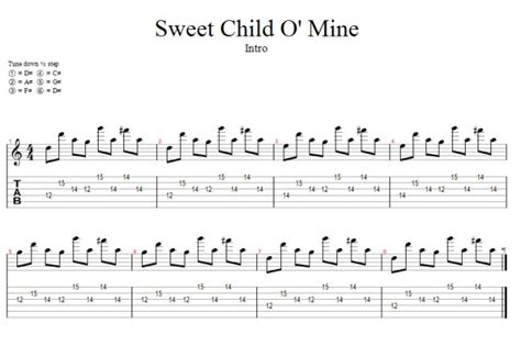 generale vasco tab sweet child o mine free guitar pro tab