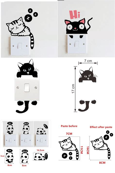 Cat Switch Sticker visit to buy sleepy cat switch stickers diy