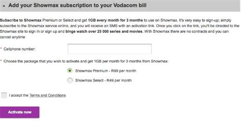 vodacom accounts add showmax to your vodacom bill and get free data