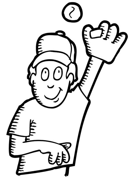 coloring pages free printable baseball printable baseball coloring page boy fielder