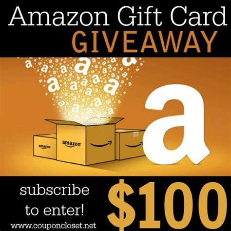 How Much Money Is On My Amazon Gift Card - 100 amazon gift card giveaway subscribe to enter coupon closet