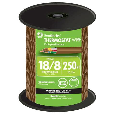southwire 250 ft 18 8 brown solid copper thermostat wire