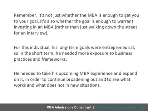 Is An Mba Easy by Owning Your Mba Career Goals In 5 Easy Steps