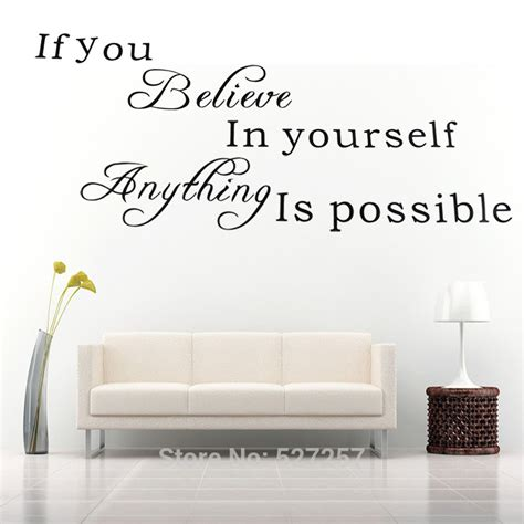believe home decor believe in yourself home decor creative quote wall decal