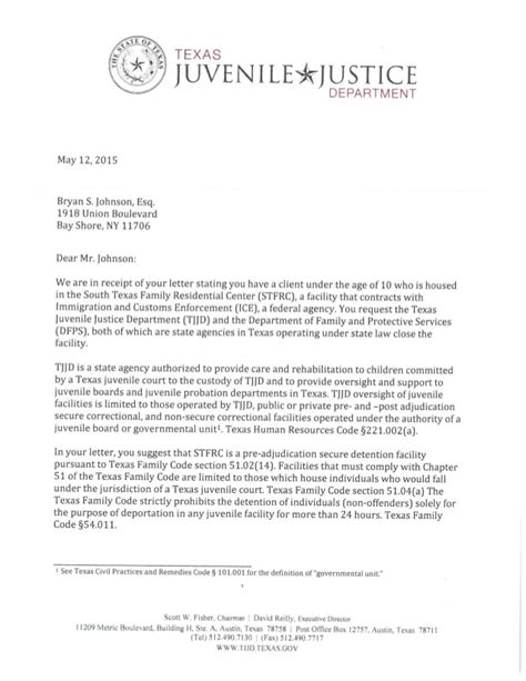 Response Letter Closing response to closing dilley children
