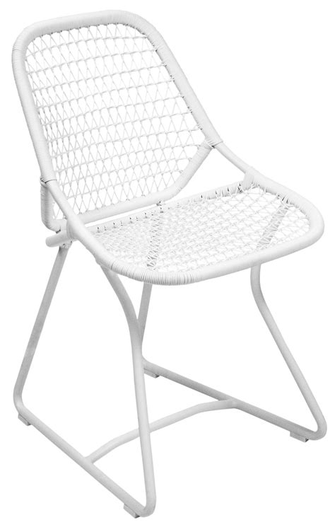 stuhl beige sixties chair seat cotton white white by fermob