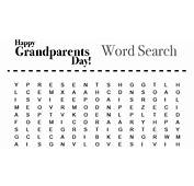 Grandparents Day Activity Word Search  Grandparentscom