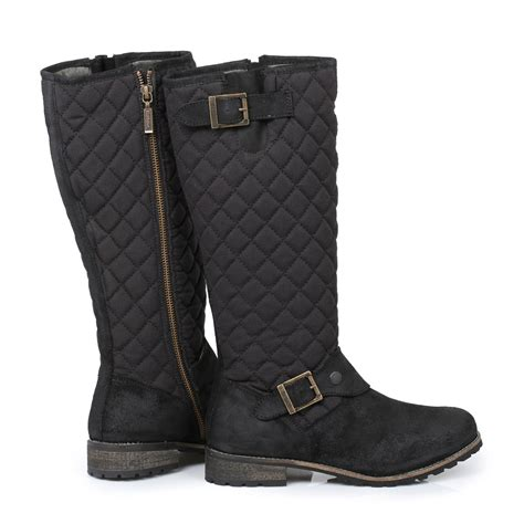 barbour black hoxton womens boots sizes 3 8 ebay