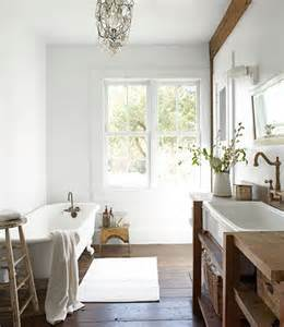Country Living Bathroom Ideas by Salvaged Wood Washstand Cottage Bathroom Country Living