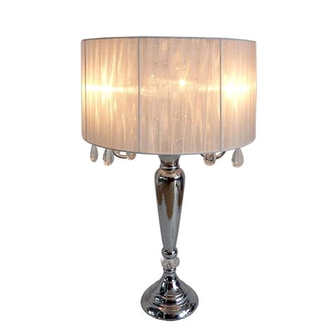 hanging crystal table l elegant designs crystal palace 27 in trendy romantic
