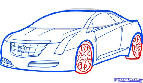 Mustang Auto Zeichnen by How To Draw A 2013 Cadillac Elr 2013 Cadillac Elr Step