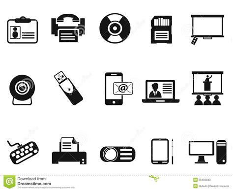 t駘馗harger icones bureau ic 244 nes noires de technologie bureautique r 233 gl 233 es