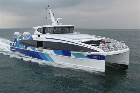 passenger catamaran design majestic ferries takes delivery of first hsc catamaran