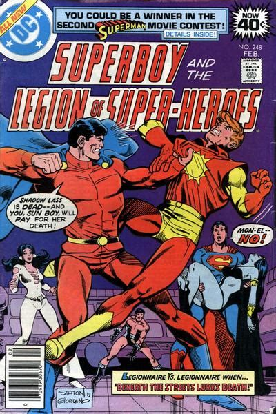 superboy and the legion of heroes vol 2 superboy and the legion of heroes vol 1 248 dc