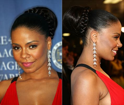 braided hair buns for black women messy updo hairstyles 2013 long hairstyles