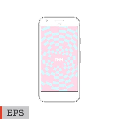 eps format android outline vector mockup eps template for google pixel