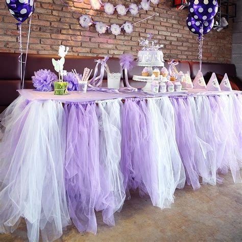 Mixed Colors Wedding Table Tulle Decorations 50cm Custom